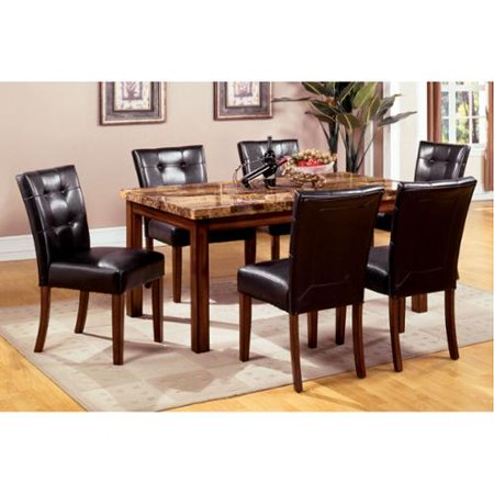 of america tamerithe 7 piece faux marble dining set