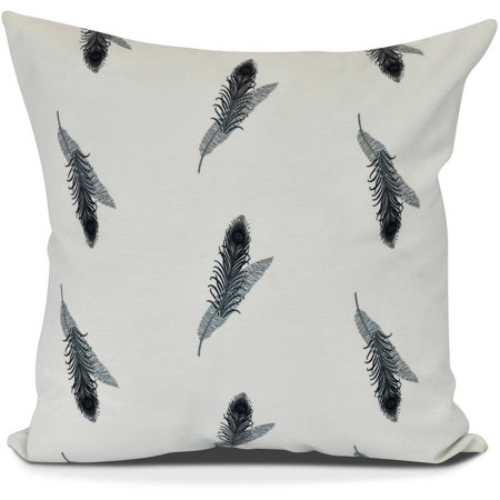 Feather Stripe Floral Print Outdoor