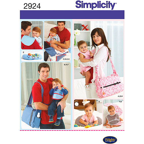 Simplicity Pattern Diaper Bags, One Size