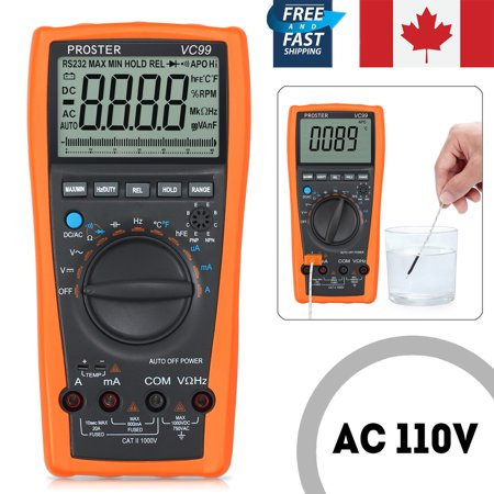 VC99+ 6999 Auto Range LCD Digital Multimeter AC DC OHM Voltmeter Ammeter Tester - image 7 of 7