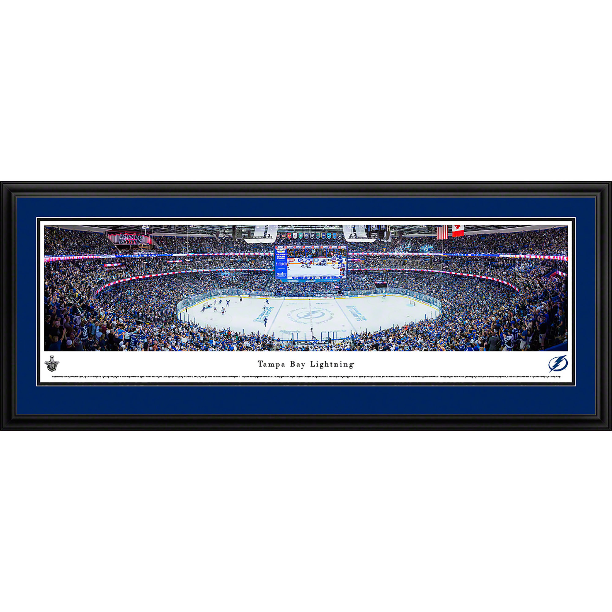 Tampa Bay Lightning - Blakeway Panoramas NHL Print with Deluxe Frame and Double Mat