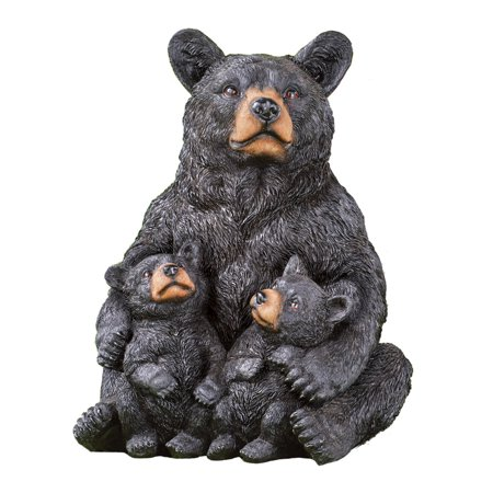 Panda Bear Statue (Mama Bear and Cubs Yard Figurine, Outdoor Decorative Realistic Statue for Yard, Garden, or Any Room in Home )