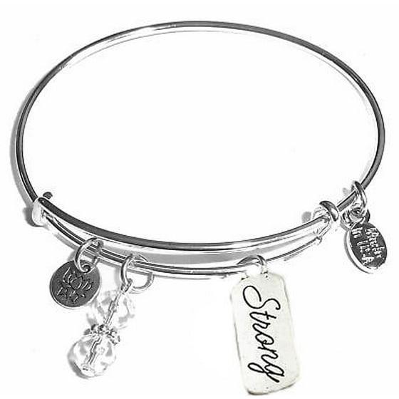 Hidden Hollow Beads Expandable Charm Bangle Bracelets Strong Bracelet