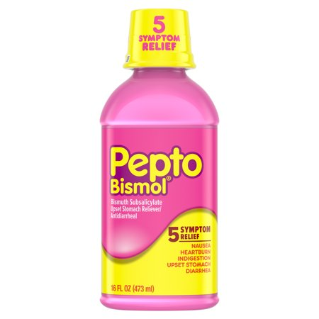 Pepto Bismol Liquid for Nausea, Heartburn, Indigestion, Upset Stomach, and Diarrhea Relief, Original Flavor 16