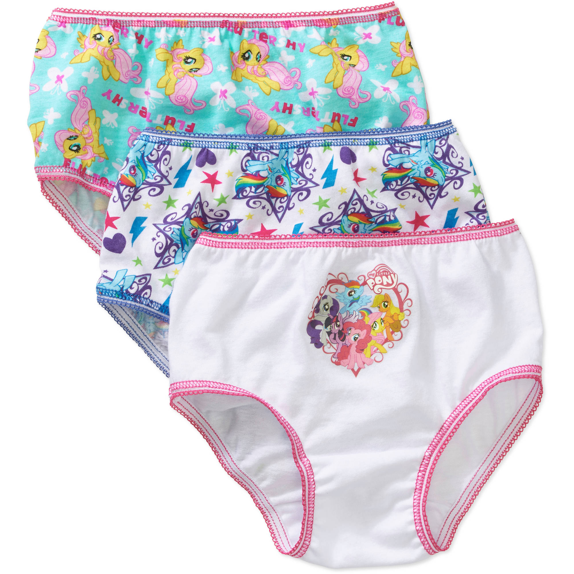 My Little Pony Toddler Girls Undewear, 3 Pack