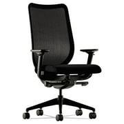 - Nucleus Series Work Chair, Black ilira-stretch M4 Back, Black Seat