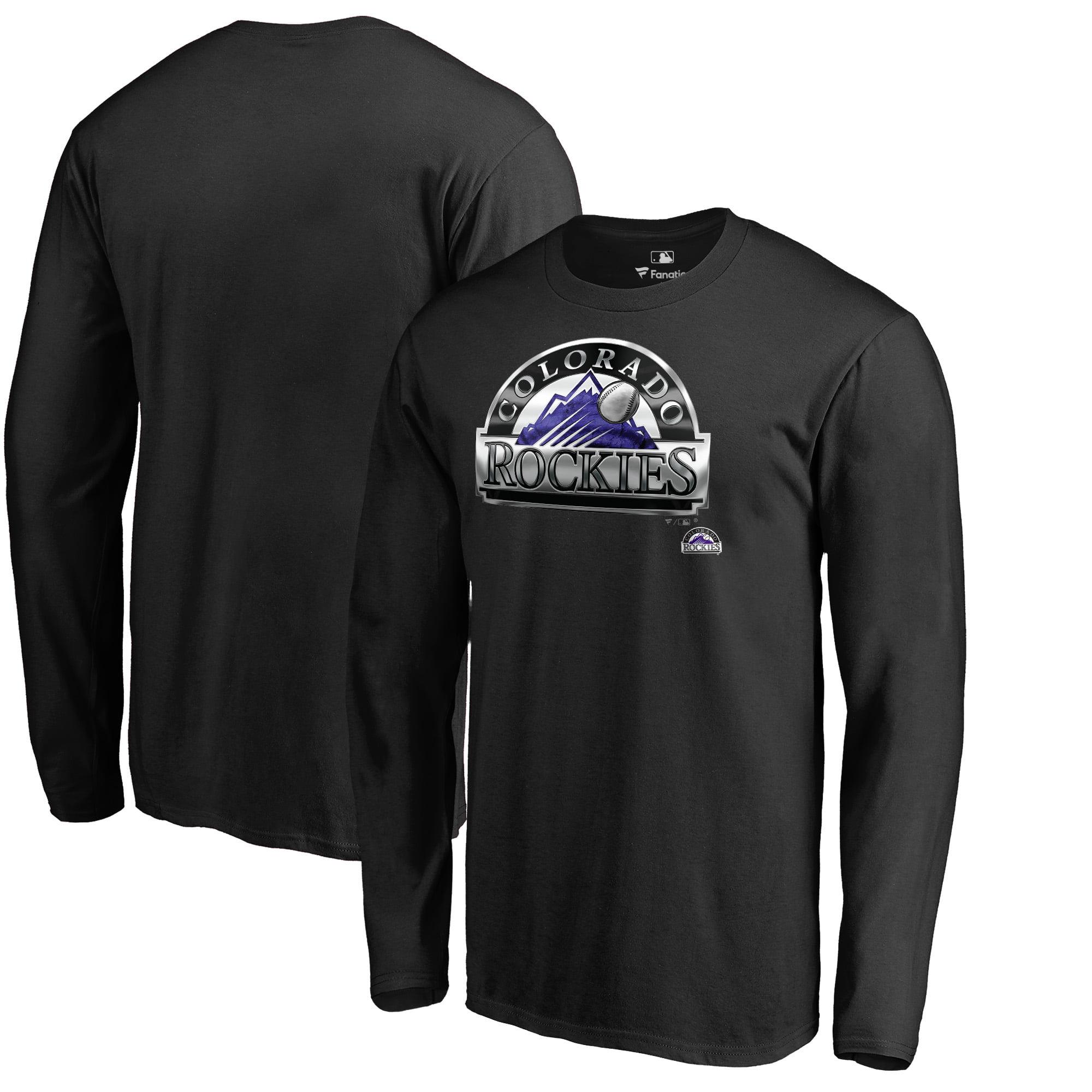 Colorado Rockies Fanatics Branded Midnight Mascot Long Sleeve T-Shirt - Black