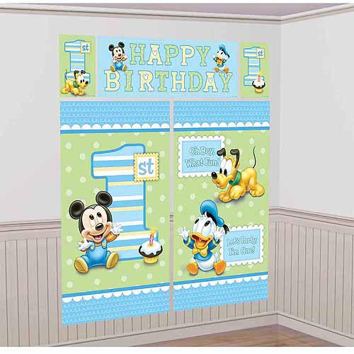Disney Mickey Mouse 1st Birthday Scene Setter