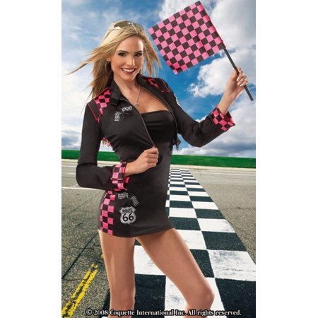 Sexy Halloween Costumes Nascar Race Car Driver Girl Checkered Dress Costume Theme Party - Halloween Themed Catering