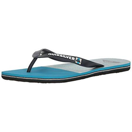Quiksilver Men's Molokai Slab Logo Sandal, Black/Blue/Blue, 13(46) M US