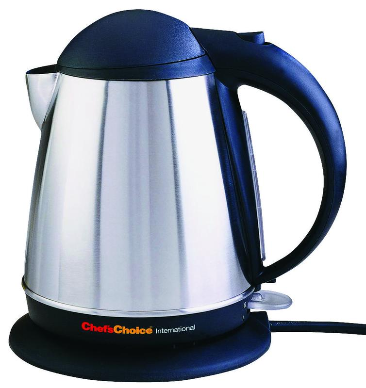 Chef'sChoice International 6770004 Compact Cordless Electric Kettle, 1500 W, Stainless Steel