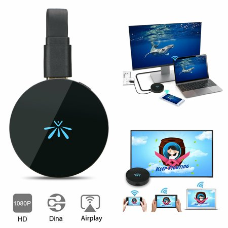 EEEKit WiFi Wireless HDMI Display Dongle TV Adapter Miracast DLNA Airplay Receiver 2.4GHz Display Dongle 1080P Full HD HDMI TV Stick Support Android OS 4.0 / IOS 6.0 / (Best Ipad Dlna Player)