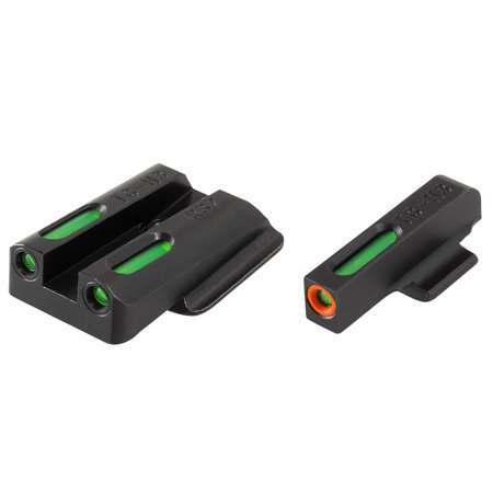 TRUGLO TFX PRO RUGER LC TRITIUM/FIBER OPTIC GREEN TRITIUM/FIBER OPTIC W/ORANGE OUTLINE FRONT GREEN REAR (M4 Optics What's Best)