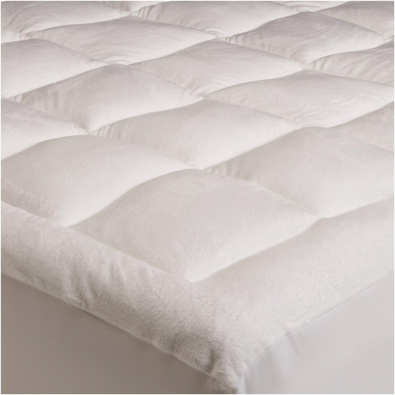 Mezzati Luxury Pillow Top Quilted Mattress Pad With Fitted Skirt Down Alternative Filling Super Soft Extra Plush Topper Deep Pocket King Walmart Com Walmart Com