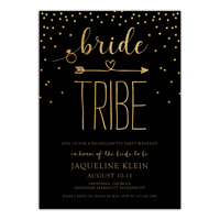Personalized Wedding Bachelorette Party Invitation - Glitter Tribe - 5 x 7 Flat