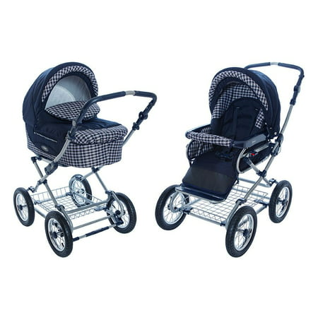 Roan Kortina Classic Pram Stroller 2-in-1 with Bassinet and