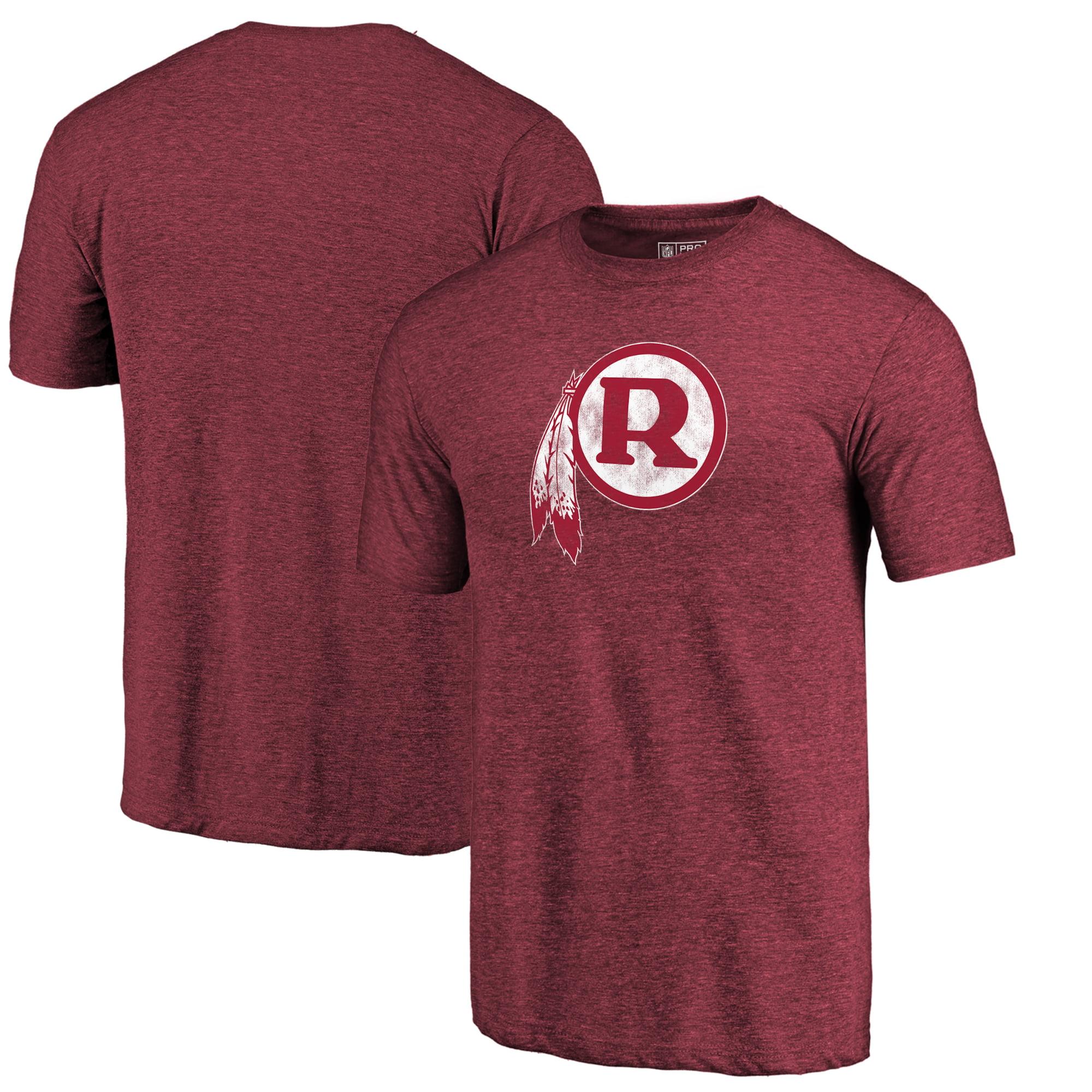 Washington Redskins Fanatics Branded Throwback Logo Tri-Blend T-Shirt - Burgundy