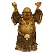 "Oriental Furniture 12"" Standing Prosperity Buddha Statue, decorative item, living room"