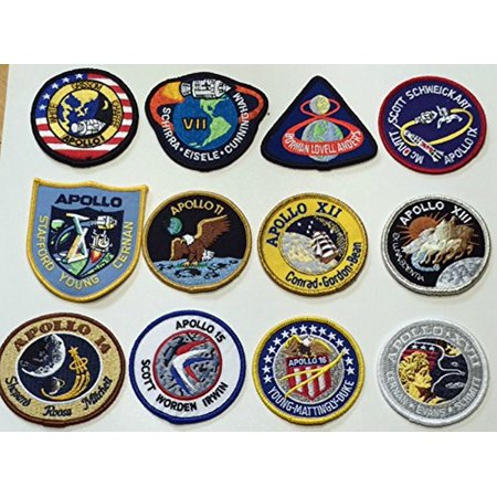 NASA Apollo Mission Patch Set Apollo 1,7,8,9,10,11,12,13 ...