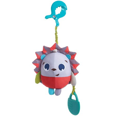 Tiny Love Marie The Hedgehog Jumpy Teether Toy, Meadow Days (Refurbished) Universal clip for easy attachment to strollers, carriers and more