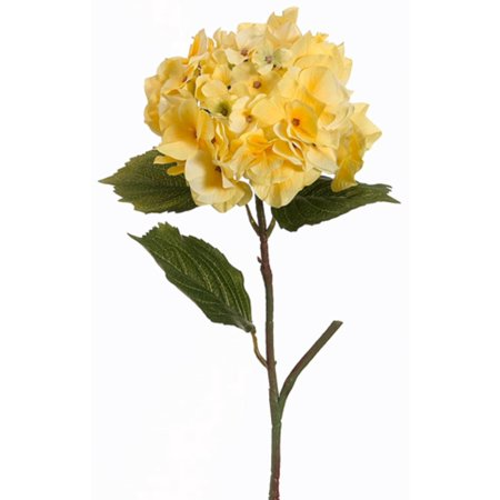 Pack of 12 Yellow Hydrangea Flower Artificial Floral Craft Sprays 23