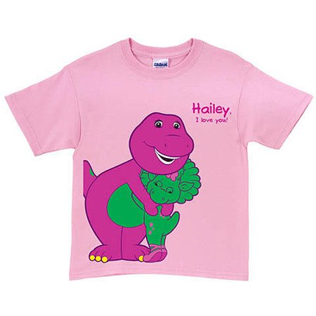 Personalized Barney & Baby Bop Pink Toddler Girl T-Shirt