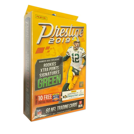 2019 Panini Prestige NFL Football Hanger Box- Featuring 2019 NFL Rookies premieried in team uniform |One autograph or memorabilia per two boxes, 5 Rookies, 5 parallels, 5 inserts
