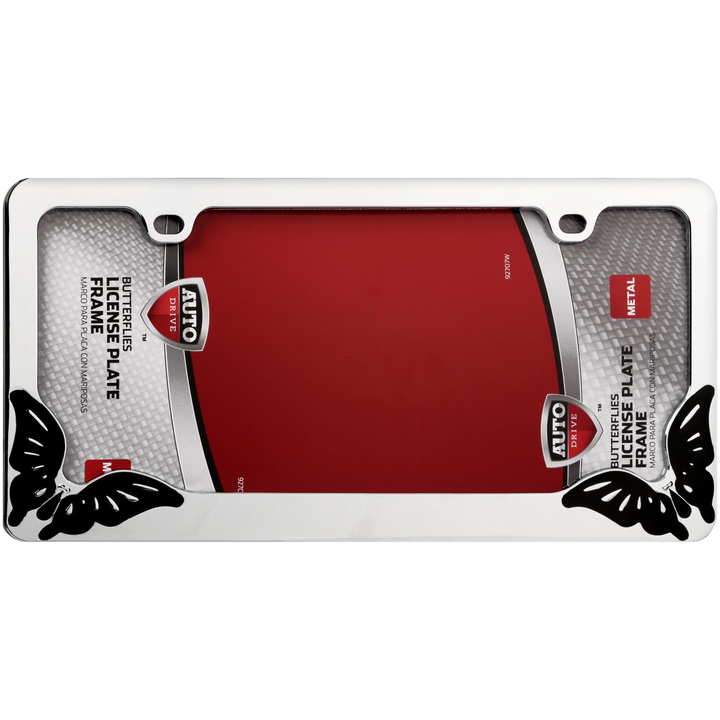 Auto Drive™ Butterflies License Plate Frame