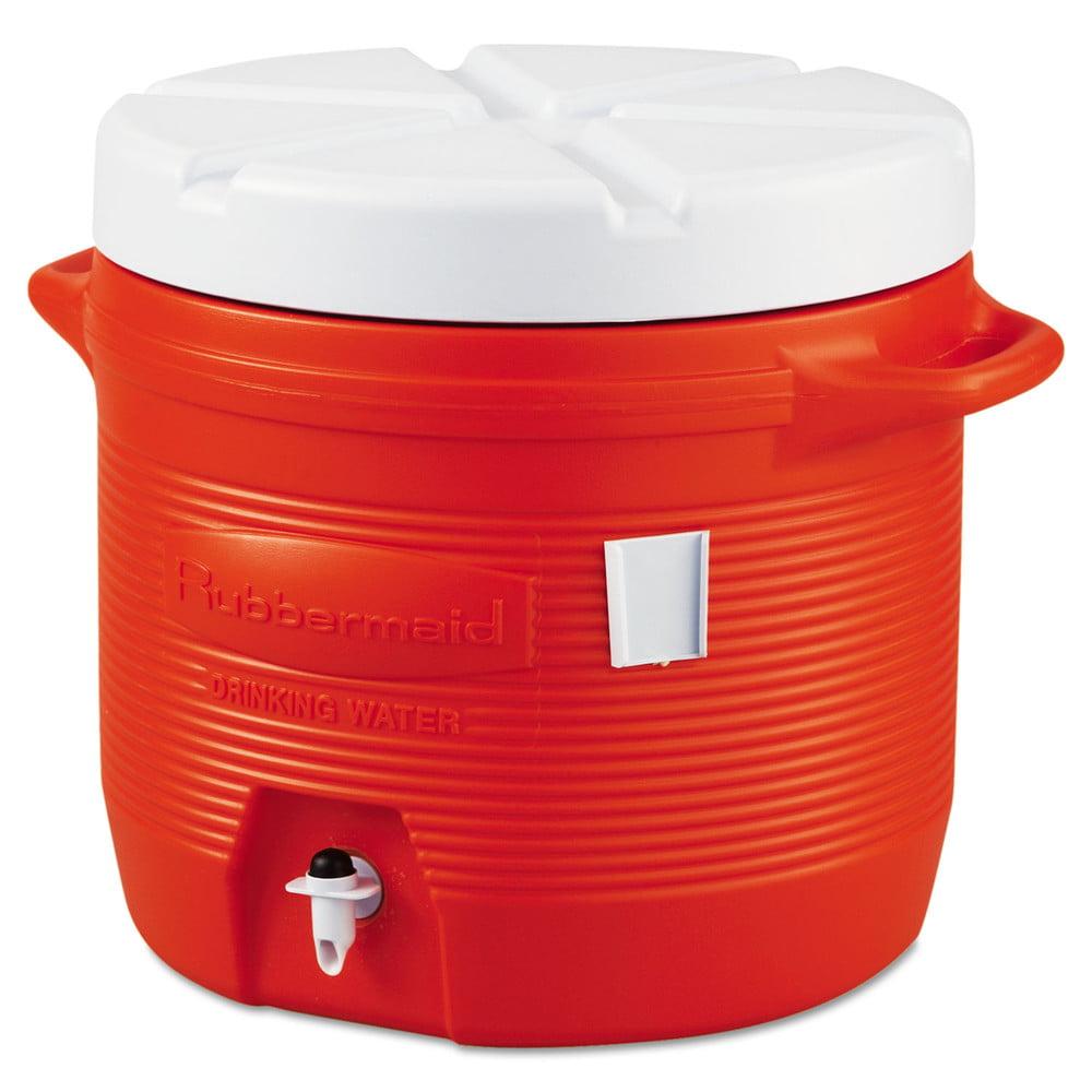 Rubbermaid 16550111 7 Gallon Orange Plastic Water Cooler
