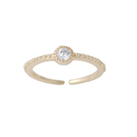 - 14k Gold Sparkling CZ Toe Ring