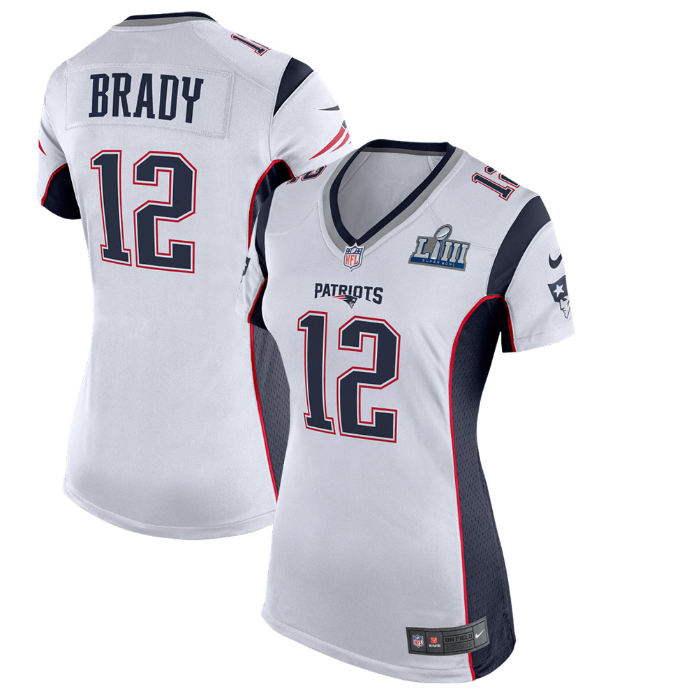 Tom Brady New England Patriots Nike Women's Super Bowl LIII Bound Game Jersey - White