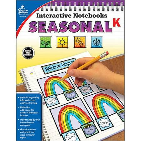 Carson Dellosa CD-105019 Interactive Notebooks Seasonal Resource Book - Grade K