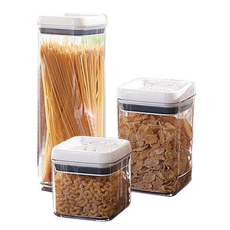 6 Piece Air tight stacking food container set with lid (Adams Tight Lies 5 Iron)