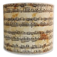 Royal Designs Modern Trendy Decorative Handmade Lamp Shade - Made in USA - Musical Notes Design -10 x 10 x 8
