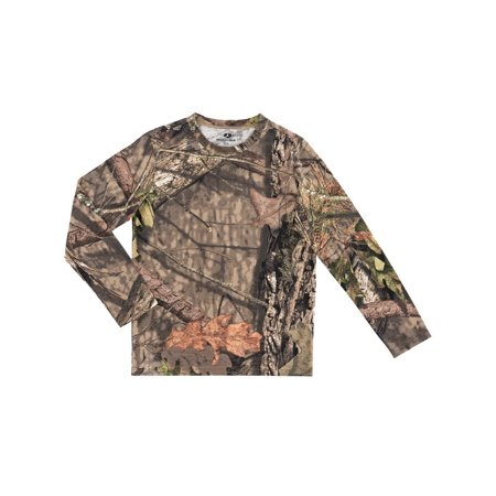 Boys Mossy Oak OPP Scent Control Camo Long Sleeve Tee Shirt Scent Shield Clothes