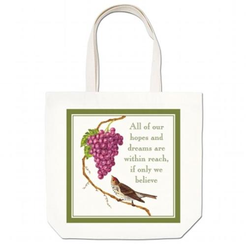 Alice's Cottage AC17432 Bird with Grapes Large Tote