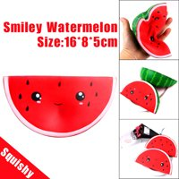 〖Follure〗Squishy Cute Smiley Watermelon Cream Squeeze Toy Slow Rising Decompression Toys