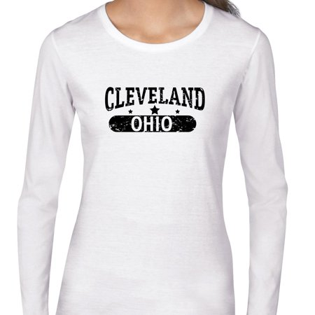 Trendy Cleveland, Ohio with Stars Women's Long Sleeve - Halloween Stores In Cleveland Ohio