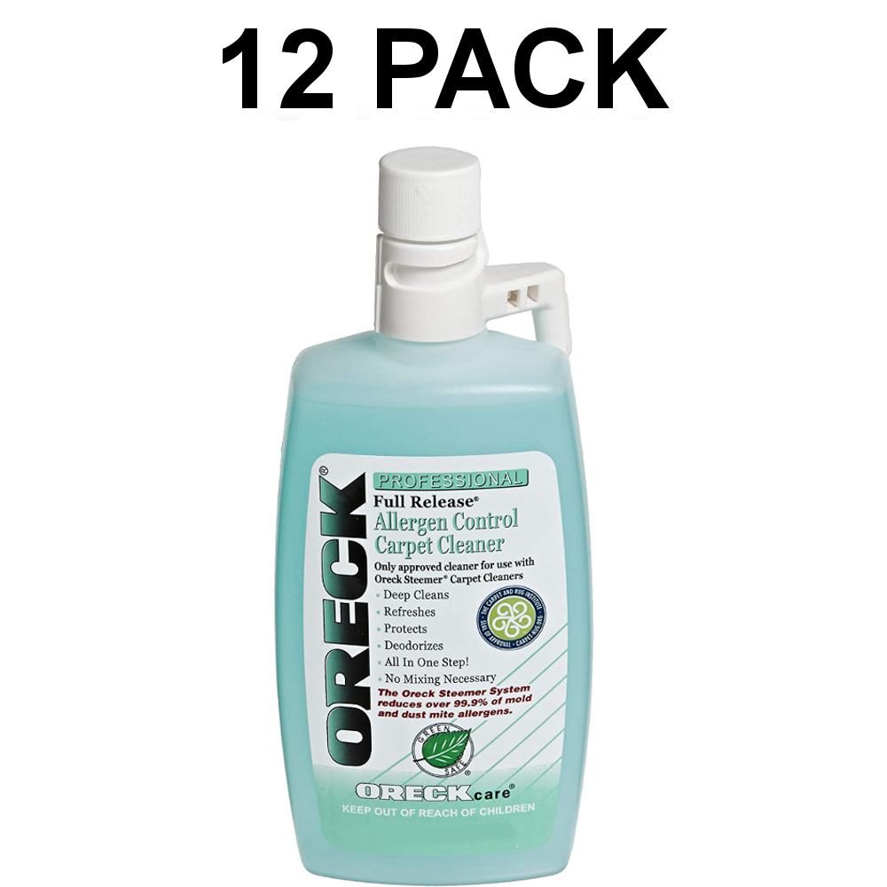 Oreck Carpet Cleaning and Hard Floor Cleaner Shampoo, 12 Pack