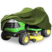 """North East Harbor Superior Riding Lawn Mower Tractor Cover Fits Decks up to 62"""" - Green - 300D Polyester Oxford PU Coated Water and UV Resistant Storage Cover - 82"""" L x 50"""" W x 47"""" H"""