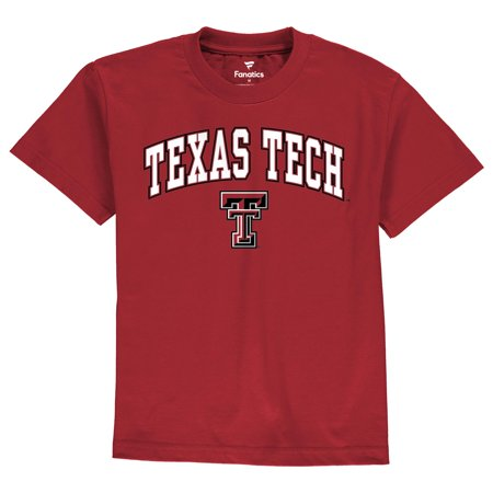 Texas Tech Tie - Texas Tech Red Raiders Youth Campus T-Shirt - Red