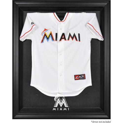 Miami Marlins Fanatics Authentic Black Framed Logo Jersey Display Case - No Size