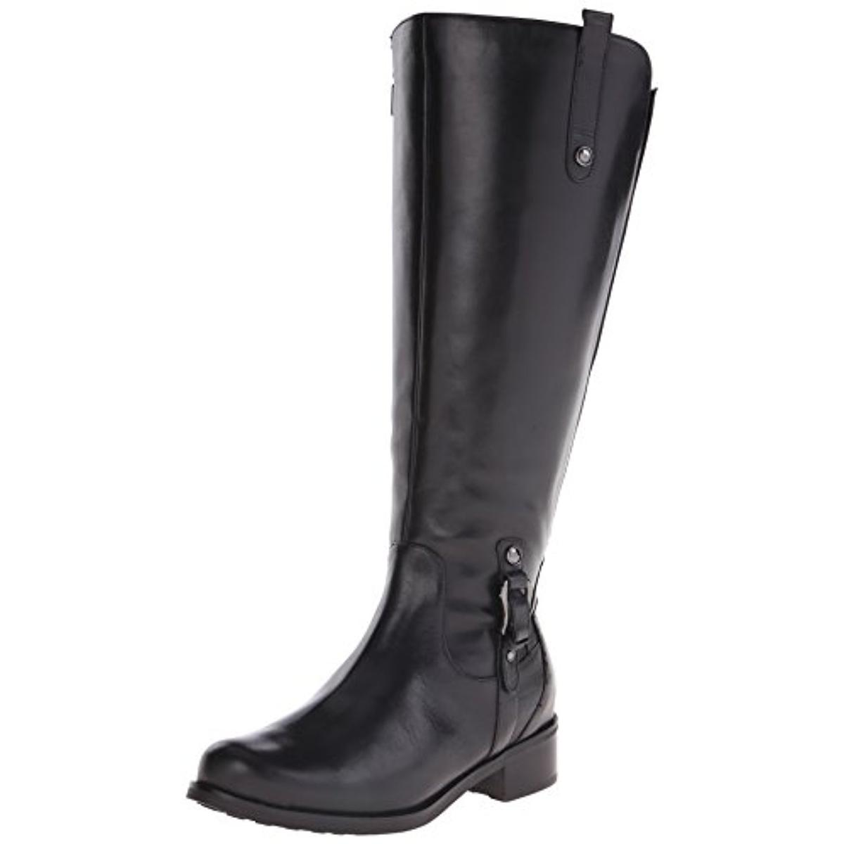 Blondo Womens Venise Leather Wide Calf Riding Boots