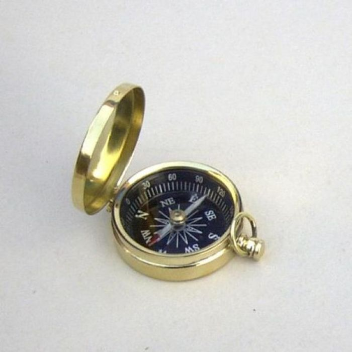 India Overseas Trading BR4885 - Pocket Compass, Black Dial