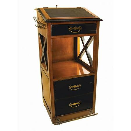 Valet De Chambre Rolling Cabinet Desk 48 Nautical Storage