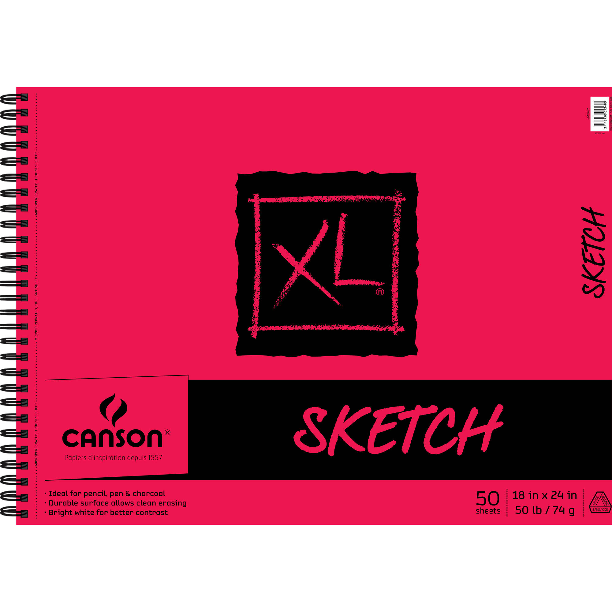Canson XL Sketch Pad Side Wire 18x24