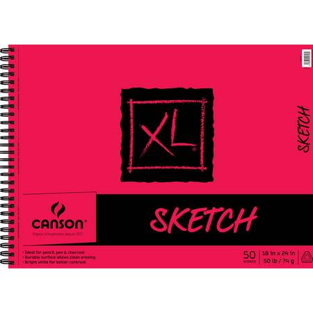 Canson Xl Sketch Pad Side Wire 18x24 Walmart Com