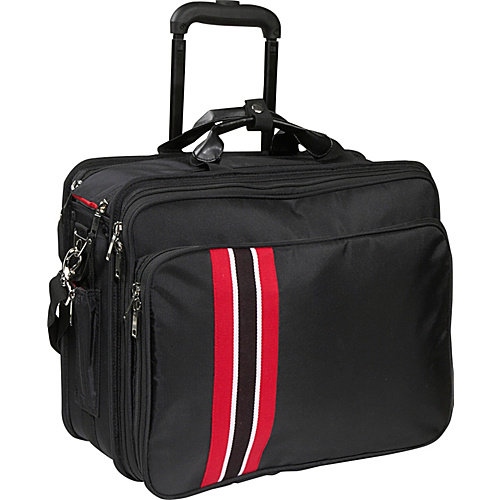 WIB 17.3' Notebook Travel Roller Black with Red Stripe