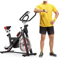 HAPICHIL Exercise Stationary Bike with Resistance for Home Gym, Adjustable Seat, LCD Display