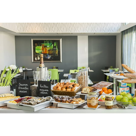 Canvas Print Breakfast Hotel The Rochelle Buffet Hide Stretched Canvas 10 x 14](Breakfast Buffet Ideas)